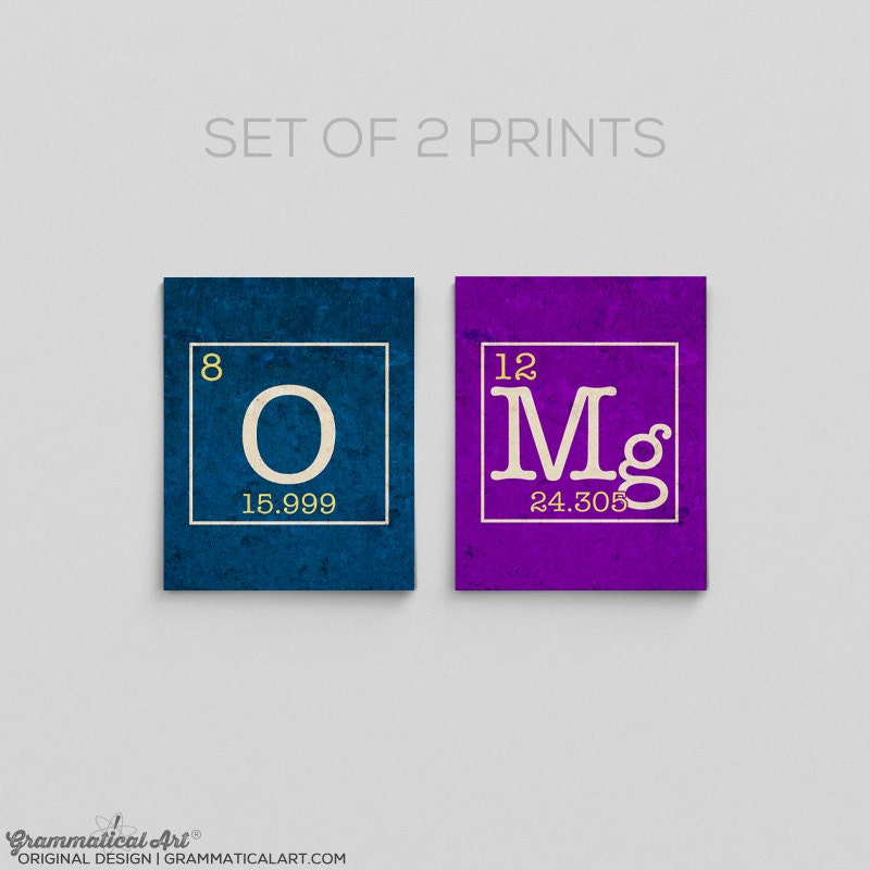 Omg science periodic table prints chemistry teacher gifts for zoom urtaz Choice Image