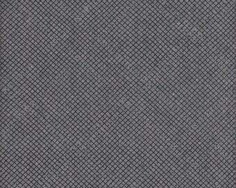 Robert Kaufman Carolyn Friedlander Euclid Essex Linen/Cotton Check It in Graphite  - Half Yard