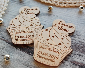 Save the date magnet wood Save the dates Personalized Save-the-date, Rustic wedding invitation, Custon engraved magnets save the date cake