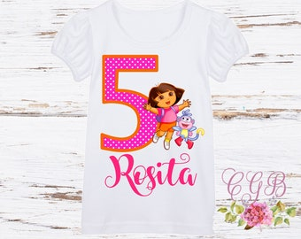 Dora the explorer birthday shirt, dora birthday, dora birthday shirt