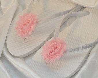 Free USA Shipping! Custom WEDDING Flip Flops BRIDESMAID Bride Flip Flops, Personalized Flower Flip Flops, Bridal Party Gift, Beach Wedding