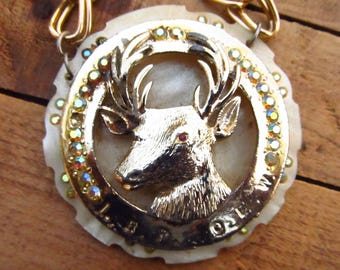 Vintage Stag Elks BPOE Large Ceremony Necklace - BPOE Elks Insignia