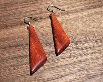 Bloodwood Triangle Earrings