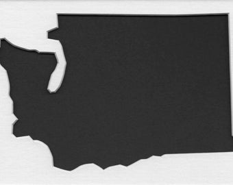Pack of 3 Washington State Stencils,Made from 4 Ply Mat Board 16x20, 11x14 and 8x10