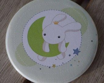 Magnet magnet series rabbit on the Moon 56mm