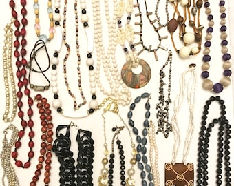 Vintage and Newer Necklace Lot Jewelry Lot