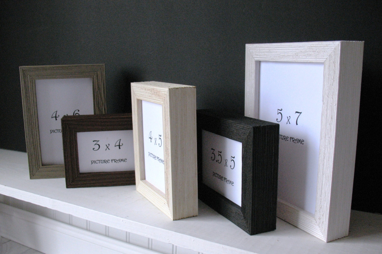 DEEP BARNWOOD Frame 3x4 3x5 3.5x5 4x5 4x6 5x7 Self Stand Black