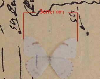 1 white organza Butterfly applique realistic dimension 3 x 2 cm