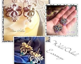 Wild Orhid earrings Tatting TUTORIAL