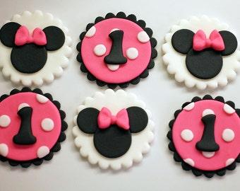 Minnie Mouse Fondant Cake topper Set Minnie Mouse 3D Figure