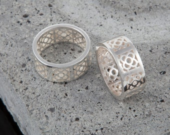 Barcelona Art Nouveau Silver Ring