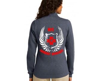 Nurse Jacket Women's Emergency Department Jacket (RN) Slate Grey |ER Jacket | ER Nurse | Nurse Jacket | rn Jacket | er nurse jacket