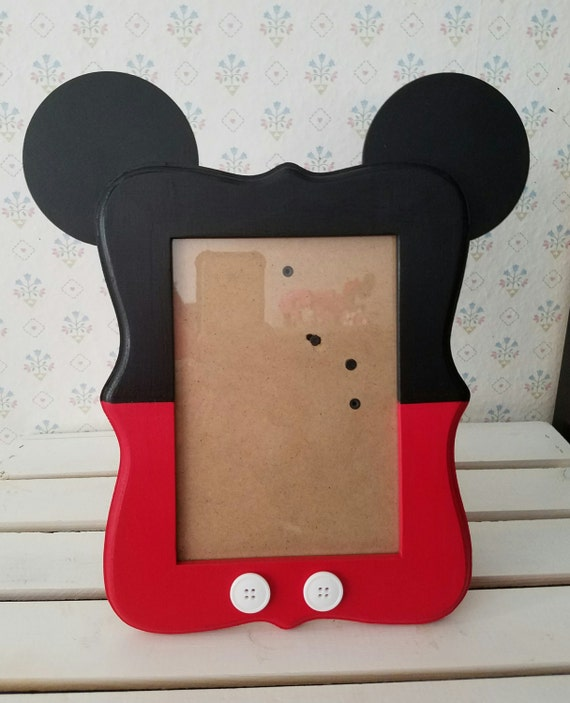Superior Mickey Mouse Inspired Wood Picture Frame 5x7 Photo Frame