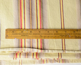 Large piece Antique Ticking Stripe Fabric Cotton Denim 372-L11B