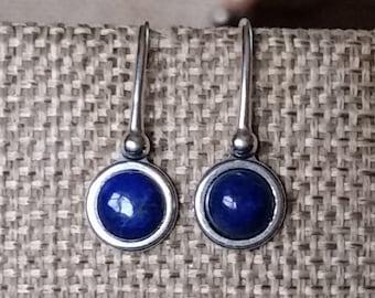 Lapis Sterling Silver Earrings