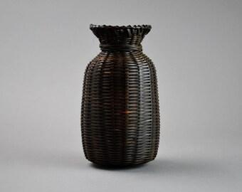 Japanese Bamboo Vase Ikebana Hanakago Wicker Vase B2