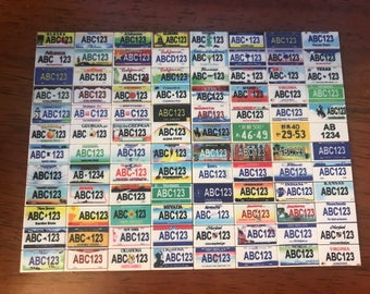 2x Mini Customize License Plate on Lego 1x2 Tile - Printed with your own License number