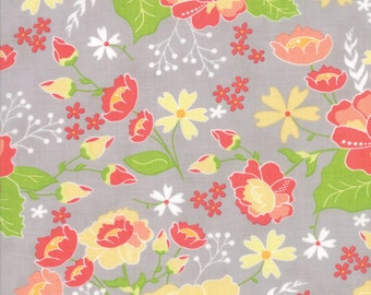 Lulu Lane Flower Garden fabric in Gray by Corey Yoder for Moda Fabrics #29020-21
