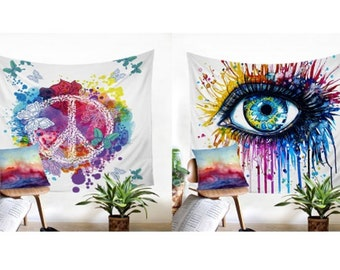 Wall hanging, tapestry wall 130cm / 150cm and 150cm / 200cm (2 designs)