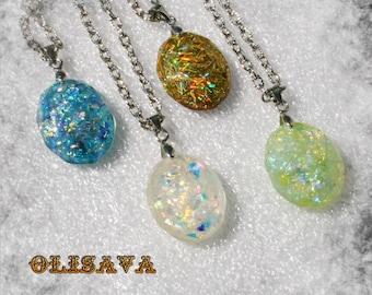 SALE...Resin Pendant ,  Resin Jewelry , Resin glitter Jewelry , Resin glitter Pendant