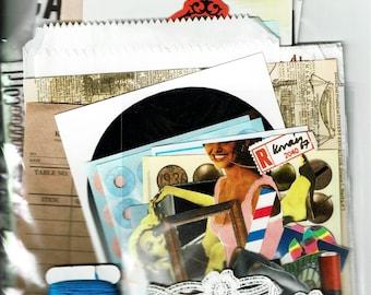 Over 100 pieces Junk journal supplies , scrap booking ,collage materials,vintage paper,art journal,smash books,flowish trash journal