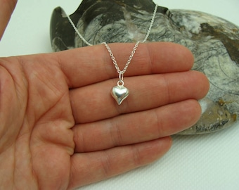 Pendant, Sterling Silver Heart pendant, sterling silver charm, Heart charm