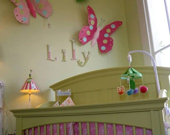 Custom Order Metal Butterflies- Size Small- Hand Painted Butterfly Wall Decor