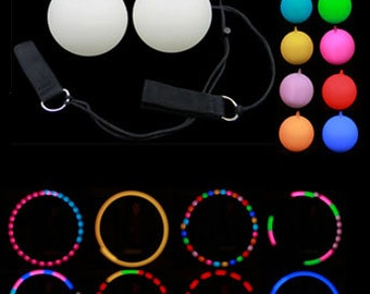 LED Poi - 9 modes LED poi is perfect for beginners and experience spinners!