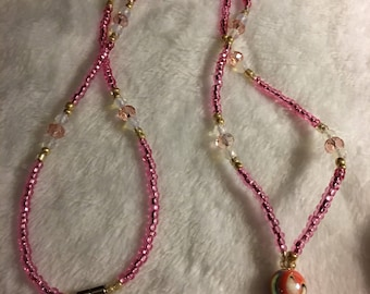 Pink Name Badge Lanyard can be used as a Keychain