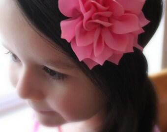 Pink Flower Headband. Infant Headband. Photo Prop. Girl Headband. Baby Headband. Toddler Headband. Hair clip. Back to School.