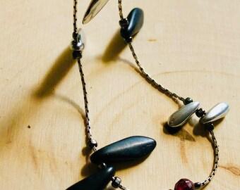 Black Dagger Bracelet for Women, Woman's Bracelet, Boho Bracelet, Beach Bracelet, Beaded Bracelet, Summer Bracelet