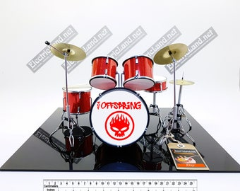 mini Drums kit the OFFSPRING miniature memorabilia drummer drum set batteria trap punk hard rock cospiracy of one
