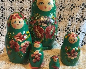 Green Nesting Dolls