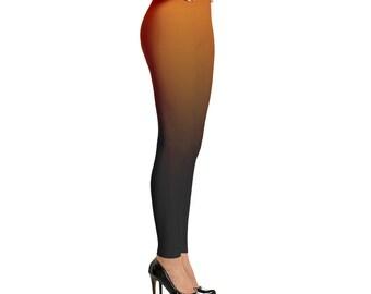 Orange to Black Ombre Leggings