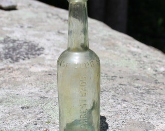 Vintage Gilcrest Bros. English Club Sauce Glass Bottle