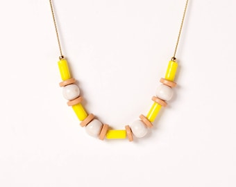 Necklace by Depeapa - PARRANDA - Jarana Collection - Accesories, jewelry, yellow necklace