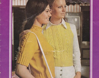 Paton's Knitting Pattern No 969  Womens in Paton's, Bluebell goes to Town (Vintage 1970s)