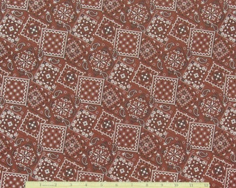 Bandana Fabric Rust 100% Cotton