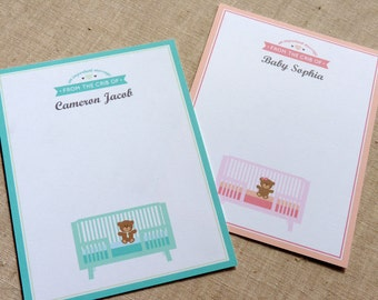 Personalized Stationery for Baby / Personalized Stationary / Baby Note Cards