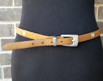 Vintage Cowhide Belt,Rider Pant Belt,Slim Buckle Belt,Western Belt,Brown Cowhide Belt,Vintage Brighton Hide Belt,Vintage Belt,Belt Collector