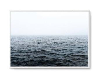 Moody Oceans Print Ocean Breeze Print Poster Ocean Waters Poster Art Ocean Water Scandi Art Print - UNFRAMED