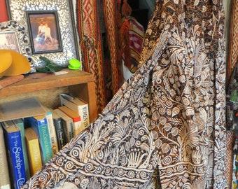 Rare Wrap Harem Style Batik/Block Print Hippie Pants