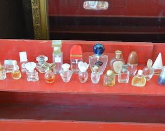 Vintage Miniature Perfume Bottles LOT of 23
