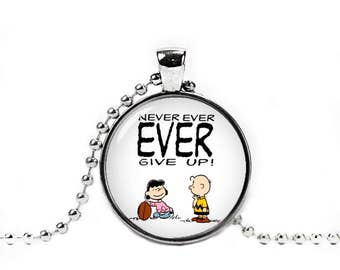 Charlie Brown and Lucy van Pelt Necklace Snoopy Pendant Snoopy Jewelry Peanuts Snoopy Necklace