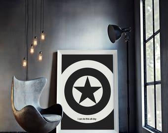 Captain America - Minimal Movie Poster - Movie Print - Film Poster