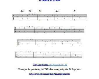 Guitar tabs sex and the city