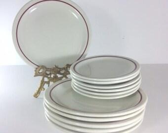 Iroquois Mid Century Restaurant Dinnerware Set of 12 Plates
