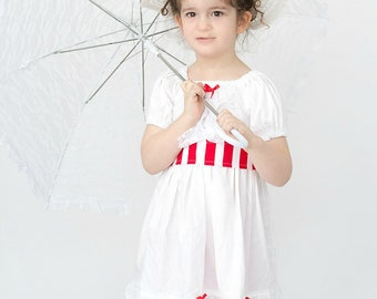 Mary Poppins - Mary Poppins Costume- Jolly Holiday Dress- Victorian Dress- Dapper Day- Mary Poppins Dress- Lolita Dress- Pageant Dress-Party