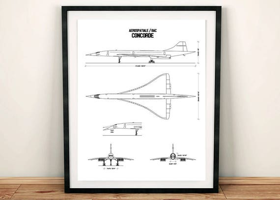 Concorde blueprint concorde blueprint art concorde decor concorde blueprint concorde blueprint art concorde decor instant download concorde wall art printable art aviation art 8x10 11x14 malvernweather Gallery