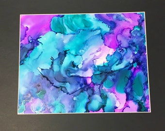 Alcohol Ink Decor, Abstract Painting, Colorful Decor, Contemporary Art, Original Painting, Wall Decor